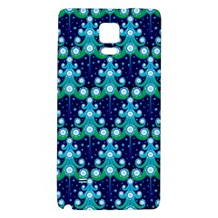Christmas Tree Snow Green Blue Galaxy Note 4 Back Case by Mariart