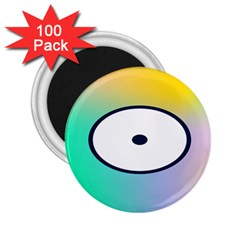 Illustrated Circle Round Polka Rainbow 2 25  Magnets (100 Pack)  by Mariart