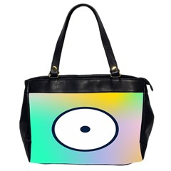 Illustrated Circle Round Polka Rainbow Office Handbags (2 Sides)  by Mariart