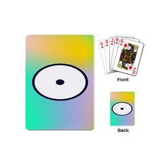 Illustrated Circle Round Polka Rainbow Playing Cards (mini)