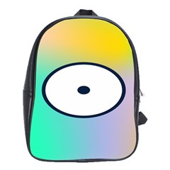 Illustrated Circle Round Polka Rainbow School Bags (xl)  by Mariart
