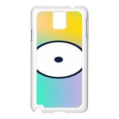 Illustrated Circle Round Polka Rainbow Samsung Galaxy Note 3 N9005 Case (white)