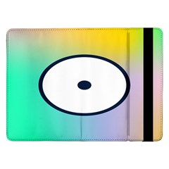 Illustrated Circle Round Polka Rainbow Samsung Galaxy Tab Pro 12 2  Flip Case by Mariart