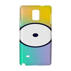 Illustrated Circle Round Polka Rainbow Samsung Galaxy Note 4 Hardshell Case by Mariart