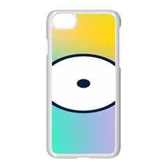 Illustrated Circle Round Polka Rainbow Apple Iphone 7 Seamless Case (white) by Mariart