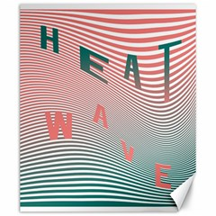 Heat Wave Chevron Waves Red Green Canvas 20  X 24   by Mariart