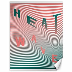 Heat Wave Chevron Waves Red Green Canvas 36  X 48   by Mariart