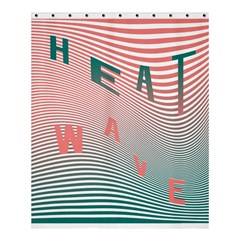 Heat Wave Chevron Waves Red Green Shower Curtain 60  X 72  (medium)  by Mariart