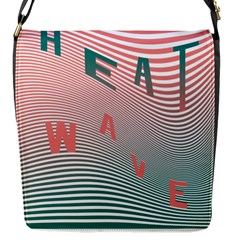 Heat Wave Chevron Waves Red Green Flap Messenger Bag (s) by Mariart