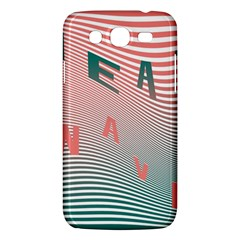 Heat Wave Chevron Waves Red Green Samsung Galaxy Mega 5 8 I9152 Hardshell Case  by Mariart