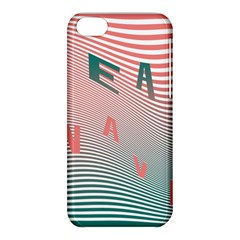 Heat Wave Chevron Waves Red Green Apple Iphone 5c Hardshell Case by Mariart