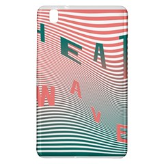 Heat Wave Chevron Waves Red Green Samsung Galaxy Tab Pro 8 4 Hardshell Case by Mariart