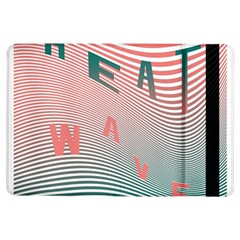 Heat Wave Chevron Waves Red Green Ipad Air Flip by Mariart
