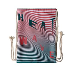 Heat Wave Chevron Waves Red Green Drawstring Bag (small) by Mariart