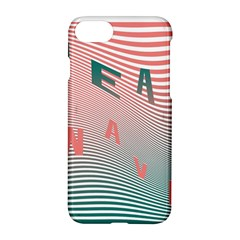 Heat Wave Chevron Waves Red Green Apple Iphone 7 Hardshell Case by Mariart