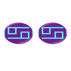 Illustrated Position Purple Blue Star Zodiac Cufflinks (oval) by Mariart