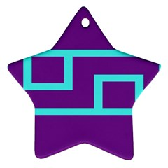 Illustrated Position Purple Blue Star Zodiac Star Ornament (two Sides) by Mariart