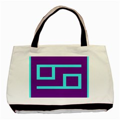 Illustrated Position Purple Blue Star Zodiac Basic Tote Bag (two Sides) by Mariart