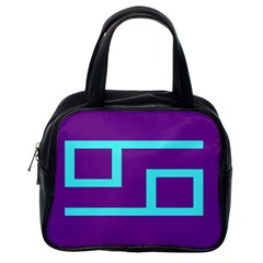 Illustrated Position Purple Blue Star Zodiac Classic Handbags (one Side) by Mariart