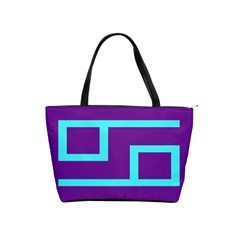 Illustrated Position Purple Blue Star Zodiac Shoulder Handbags by Mariart