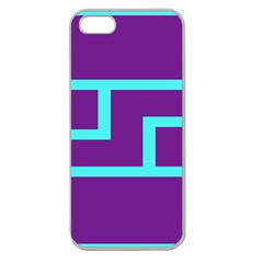 Illustrated Position Purple Blue Star Zodiac Apple Seamless Iphone 5 Case (clear) by Mariart
