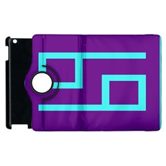 Illustrated Position Purple Blue Star Zodiac Apple Ipad 2 Flip 360 Case by Mariart