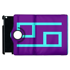 Illustrated Position Purple Blue Star Zodiac Apple Ipad 3/4 Flip 360 Case by Mariart