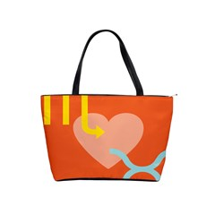 Illustrated Zodiac Love Heart Orange Yellow Blue Shoulder Handbags by Mariart
