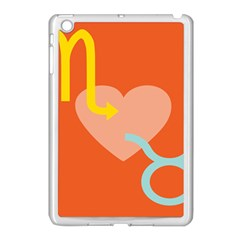 Illustrated Zodiac Love Heart Orange Yellow Blue Apple Ipad Mini Case (white) by Mariart