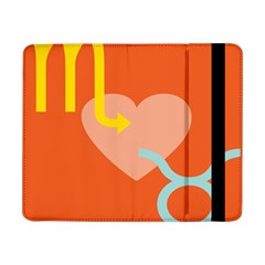 Illustrated Zodiac Love Heart Orange Yellow Blue Samsung Galaxy Tab Pro 8 4  Flip Case by Mariart