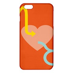 Illustrated Zodiac Love Heart Orange Yellow Blue Iphone 6 Plus/6s Plus Tpu Case by Mariart