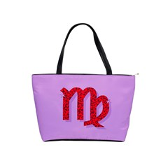 Illustrated Zodiac Purple Red Star Polka Shoulder Handbags by Mariart
