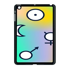 Illustrated Moon Circle Polka Dot Rainbow Apple Ipad Mini Case (black) by Mariart