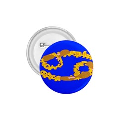 Illustrated 69 Blue Yellow Star Zodiac 1 75  Buttons