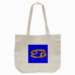 Illustrated 69 Blue Yellow Star Zodiac Tote Bag (cream) by Mariart