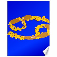 Illustrated 69 Blue Yellow Star Zodiac Canvas 18  X 24   by Mariart