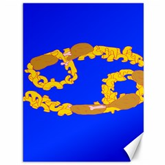 Illustrated 69 Blue Yellow Star Zodiac Canvas 36  X 48   by Mariart