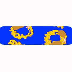 Illustrated 69 Blue Yellow Star Zodiac Large Bar Mats by Mariart