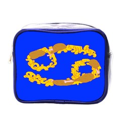Illustrated 69 Blue Yellow Star Zodiac Mini Toiletries Bags by Mariart