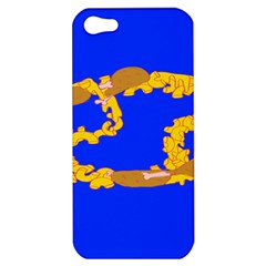 Illustrated 69 Blue Yellow Star Zodiac Apple Iphone 5 Hardshell Case by Mariart