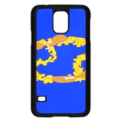 Illustrated 69 Blue Yellow Star Zodiac Samsung Galaxy S5 Case (black) by Mariart