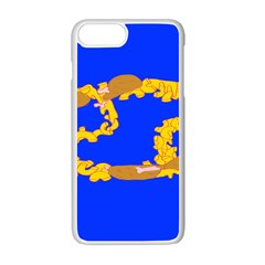 Illustrated 69 Blue Yellow Star Zodiac Apple Iphone 7 Plus White Seamless Case