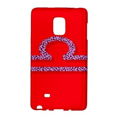 Illustrated Zodiac Red Purple Star Polka Galaxy Note Edge by Mariart