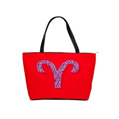 Illustrated Zodiac Red Star Purple Shoulder Handbags by Mariart