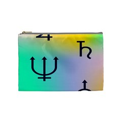 Illustrated Zodiac Star Cosmetic Bag (medium)  by Mariart