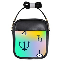 Illustrated Zodiac Star Girls Sling Bags by Mariart