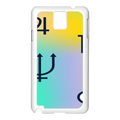 Illustrated Zodiac Star Samsung Galaxy Note 3 N9005 Case (white)