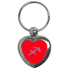 Illustrated Zodiac Star Red Purple Key Chains (heart)  by Mariart