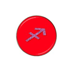 Illustrated Zodiac Star Red Purple Hat Clip Ball Marker (4 Pack) by Mariart