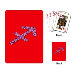 Illustrated Zodiac Star Red Purple Playing Card by Mariart